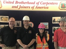 (left) Chris Austin, Local 276, Fred Swayze, Jr., Local 277, Melissa Carter, Carpenter Contractor Trust, Bob Wilmott, Local 277.